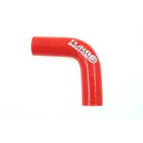 Szilikon szűkítő könyök TurboWorks Piros 90 fok 25-38mm